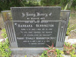 BERRINGTON Robert Stanley 1930-2012 & Barbara 1931-1981