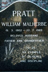 PRATT William Malherbe 1902-1989