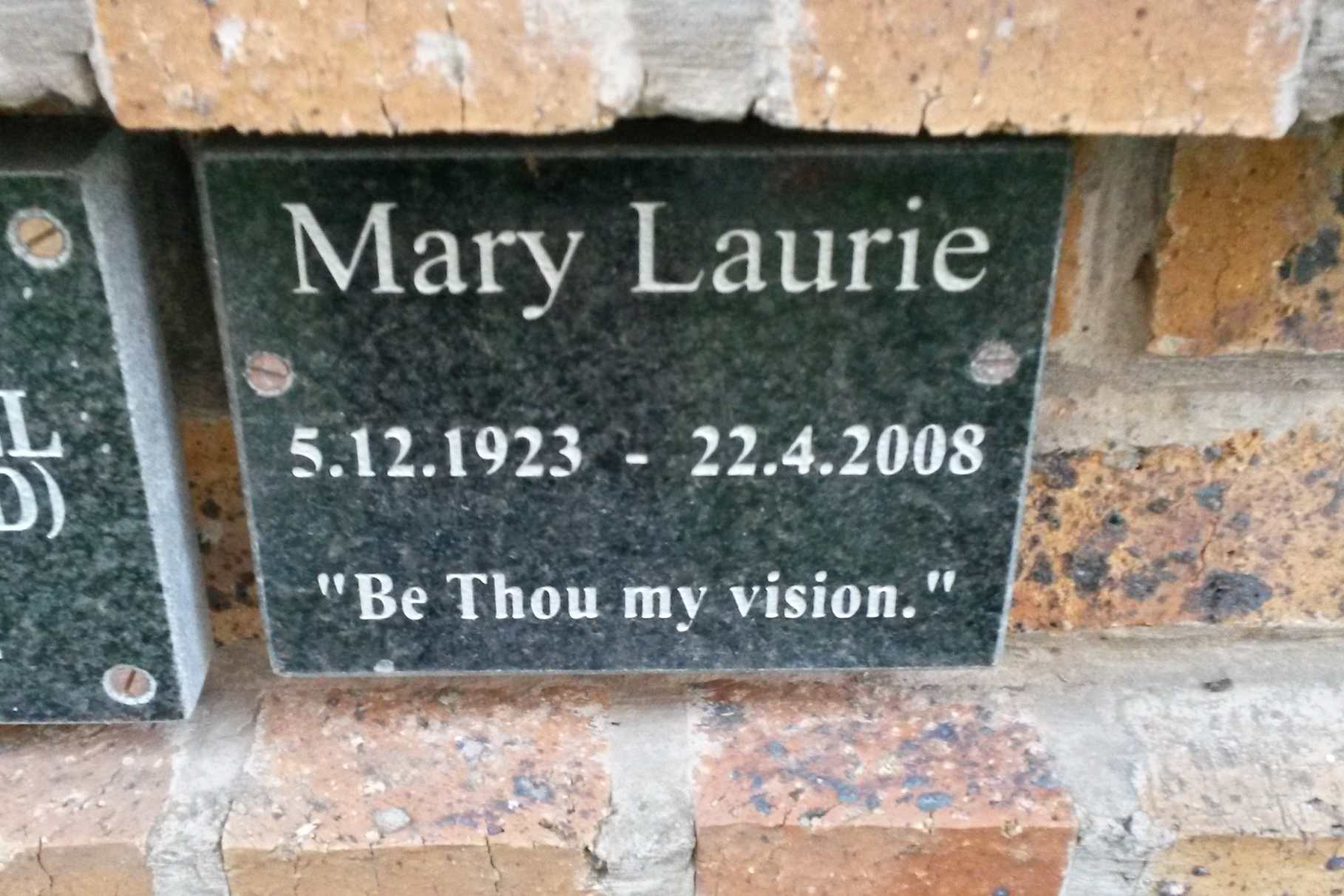 LAURIE Mary 1923-2008