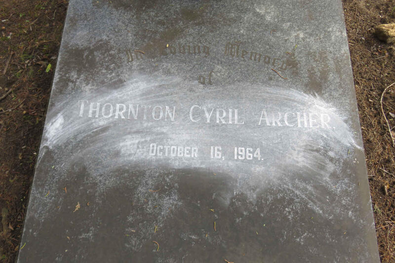 ARCHER Thornton Cyril -1964