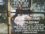 KLETTE Kathleen May nee HAW 1919-2009