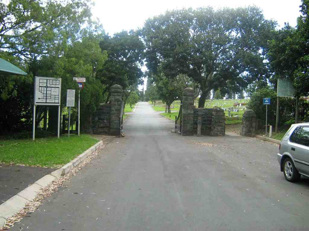 1.  Entrance to the Cambridge Cemetery,  just off Windemere Road