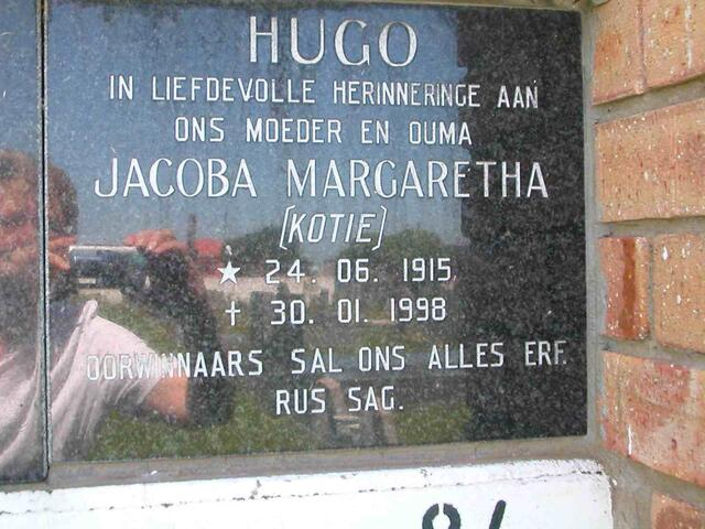 HUGO Jacoba Margaretha 1915-1998