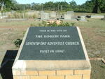 Eastern Cape, BATHURST district, Rokeby Park, Seventh Day Adventist, Cemetery
