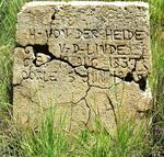 Free State, BETHLEHEM district, Clarens, Boschoek, farm cemetery