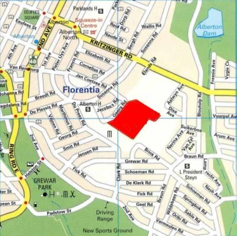 1. Alberton map to cemetery